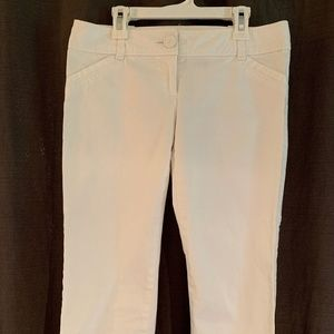 THE LIMITED White Drew Fit Capri Trousers